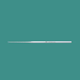 "MILTEX BUCK Ear Curette, 6-1/2"" (16.5 cm), straight, sharp, size 3. MFID: 19-268"
