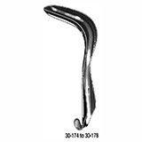 "MILTEX SIMS Vaginal Speculum, single end, medium size, 1-1/4"" (3.2 cm) X 3"" (7.6 cm). MFID: 30-176"