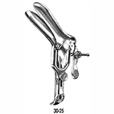 "MILTEX GRAVES Improved Vaginal Speculum, medium size, 1-3/8"" (3.5 cm) X 4"" (10.2 cm), wide angle blades. MFID: 30-25"