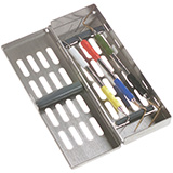 MILTEX Instrument Storage System, Slimline Series without Mat, Single Hinge Design, Size: 7 x 2-5/8 x 11/16. MFID: 3-072007