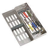MILTEX Instrument Storage System, Slimline Series without Mat, Single Hinge Design, Size: 8 x 2-5/8 x 11/16. MFID: 3-082008