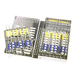 MILTEX Thompson 7 Cassette, Double Rack, 8 x 4 7/8 x 1 1/8 (inches), 204 x 124 x 28.5 (mm). MFID: 3-084214