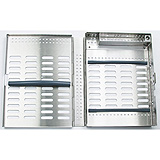 MILTEX Thompson 9 Cassette, Double Rack, 8 x 6 x 1 3/16 (inches), 204 x 154 x 30 (mm). MFID: 3-085218