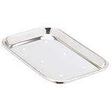 "MILTEX Mayo Tray, Size 10, Perforated, 10"" x 6-1/2"" x 23/32"". MFID: 3-921"