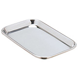 "MILTEX Instrument Tray, 10"" x 6-1/2"" x 23/32"", Rolled Edge. MFID: 3-934"