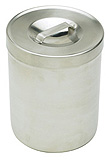 "MILTEX Dressing Jar & Cover, 4"" x 2 5/8"", 1/2 qt. MFID: 3-953"
