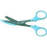 "MILTEX Nurse's Bandage Scissors fluoride coated, Blue, 5-5/8"" (143mm). MFID: 5-702"