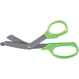 "MILTEX Bandage & Utility Scissors 8"" (202mm), Neon Green, fluoride coated blades, serrated blade. MFID: 5-800"