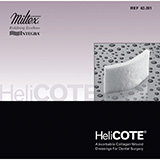 "INTEGRA HeliCOTE Absorbable Collagen Wound Dressing for Dental Surgery, 3/4"" x 1.5"" (1.9 cm x 3.8 cm). MFID: 62-201"