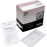 "INTEGRA HeliPLUG Absorbable Collagen Wound Dressing for Dental Surgery, 3/8"" x 3/4"" (1 cm x 2 cm). MFID: 62-202"