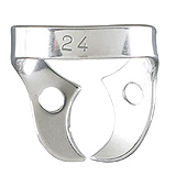 MILTEX Dental Dam Clamp, Molars, Style 24. MFID: 76D-24