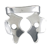 MILTEX Dental Dam Clamp, Upper Molars, Style 4. MFID: 76D-4
