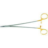 "MILTEX CRILE-WOOD Quick Release Needle Holder, 9"" (22.9 cm), serrated jaws, 4000 teeth PSI. MFID: 8-753TC"