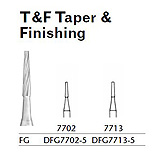MILTEX Trimming & Finishing Bur, Taper & Finishing, 7702, Friction Grip, 19 mm long. MFID: DFG7702-5