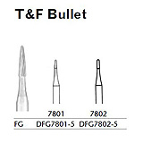 MILTEX Trimming & Finishing Bur, Bullet, 7802, Friction Grip, 19 mm long. MFID: DFG7802-5