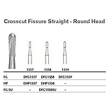 MILTEX Tungsten Carbide Bur, Crosscut Fissure Straight - Round Head, Hand Piece. MFID: DHP1558