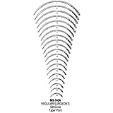 MILTEX Regular Surgeon's Needle, Size 6, 3/8 Circle Taper Point, 12/pack. MFID: MS140A-6