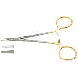 "PADGETT Halsey Needle Holder, Tungsten Carbide, Serrated Jaws, Left-Handed, Length= 5"" (127 mm). MFID: PM-2410LH"