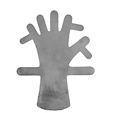 "PADGETT Framer Hand Shaped Splint, Lead, Infant Size, Length= 10-1/4"" (260 mm), Width= 7"" (178 mm). MFID: PM-4835"
