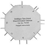 PADGETT DeMayo Two-Point Discrimination Device, Used for Post hand surgery diagnostic. MFID: PM-855