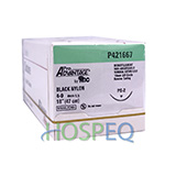 "Pro Advantage Black Nylon Monofilament Suture, 4-0, 18"", PS-2, 3/8 Reverse Cut 19mm. MFID: P421667"