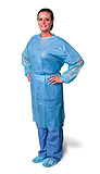 Pro Advantage Isolation Gown, Regular, Blue. MFID: P704030