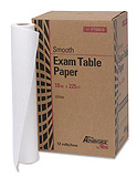 "Pro Advantage Exam Table Paper, 18"" x 225 ft, White, Smooth. MFID: P750018"