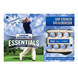 Hank Haney's PRO Hand/Finger Exerciser & DVD Set for Golf- Blue (5 lbs). MFID: HH-GBL