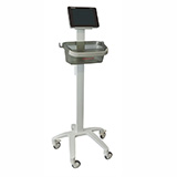 Schiller Professional X1 Cart for Cardiovit FT-1 ECG with Mounting Bracket & Basket. MFID: 2.101126