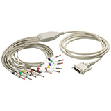 Schiller 10-lead Stress patient cable for AT-10 Plus ECG. MFID: 2.400128