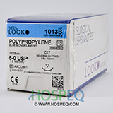 "LOOK 5-0 Polypropylene Plastic Surgery Smallstitch Suture, Blue Mono, 10""/25cm, C17, 12mm 3/8. MFID: 1013B"
