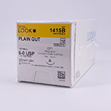 "LOOK 6-0 Plain Gut Plastic Surgery Suture, 18""/45cm, CP1, 11mm 3/8 Circle. MFID: 1415B"