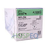 "SURGICAL SPECIALTIES Nylon Suture, Monofilament, Conventional, 7-0, 18""/45cm, 11mm, 3/8. MFID: A1696N"