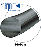 "Sharpoint Nylon MicroSuture, Black Nylon, Size: 8-0, 5""/13cm, VR5, Taper Point. MFID: AA-0140"