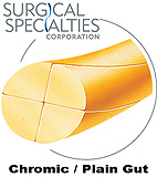 "SURGICAL SPECIALTIES Plain Gut Suture, Conventional, 6-0, 18""/45cm, 13mm, 3/8 Circle. MFID: B2711N"