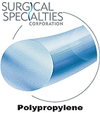 "SURGICAL SPECIALTIES Polypropylene Suture, Mono, Straight Cut, 2-0, 30""/75cm, 60mm, Straight. MFID: J8623N"