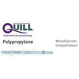 QUILL Polypropylene Suture, Diamond Point, 1, 14cm x 14cm, 26mm, 1/2 Circle. MFID: JA-1005Q
