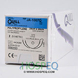 QUILL Polypropylene Suture, Taper Point, 2, 24cm x 24cm, 36mm, 1/2 Circle. MFID: JA-1007Q