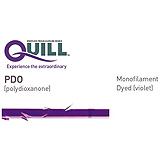 QUILL PDO Suture, Diamond Point, 0, 14cm x 14cm, 18mm, 1/2 Circle. MFID: RA-1001Q