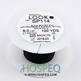 LOOK 6-0 Silk Suture Spool, Black Braid, 100 yd. MFID: SP114