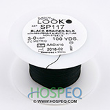 LOOK 3-0 Silk Suture Spool, Black Braid, 100 yd. MFID: SP117