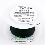 LOOK 2-0 Silk Suture Spool, Black Braid, 100 yd. MFID: SP118
