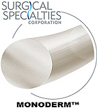 "SURGICAL SPECIALTIES Monoderm Suture, Monofilament, Reverse Cutting, 4-0, 18""/45cm, 19mm, 3/8. MFID: Y496N"