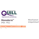 QUILL Monoderm Suture, Diamond Point, 2-0, 14cm x 14cm, 18mm, 3/8 Circle. MFID: YA-1012Q