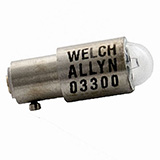 Welch Allyn 2.5v Replacement Lamp, for Ophthalmoscopes (#s 115XX). MFID: 03300-U