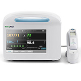 Welch Allyn CONNEX 6700 Vital Signs Monitor, Nellcor SpO2, Braun ThermoScan PRO 6000. MFID: 67NXEX-B