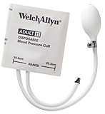 Welch Allyn FlexiPort Disposable BP Cuff, Soft with Inflation System, 2-Tube, Small Adult. MFID: SOFT-10-2BV