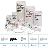 Welch Allyn FlexiPort Disposable BP Cuff, 2-Tube, Tri-Purpose Connector - Large Adult [12]. MFID: SOFT-12-2TP