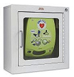 ZOLL Surface Mount Wall Cabinet for AED Plus Defibrillator. MFID: 8000-0817-01