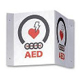 ZOLL V-Shape Wall Sign for AED Plus Defibrillator. MFID: 9310-0738